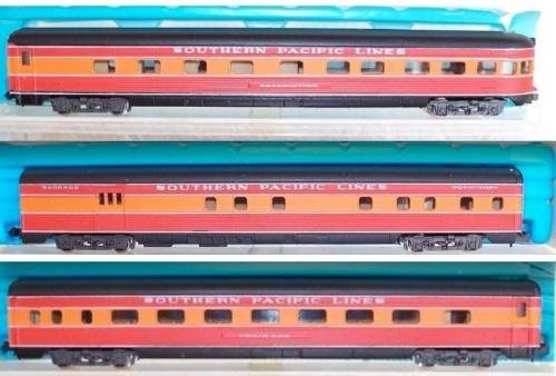 Le tre carrozze Southern Pacific di Rivarossi