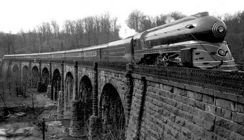 Il Royal Blue sulThomas Viaduct, Relay, Maryland, in 1937. Foto da wikimedia