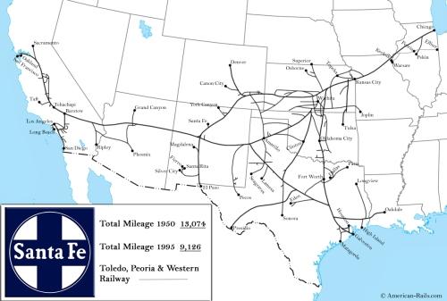 Rete della Union Pacific - da http://www.american-rails.com