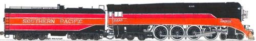 Disegno della AP 4-8-4 GS4 Daylight CT117 - da customtrains.org