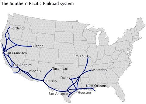 Rete della Southern Pacific - da www.pbs.org
