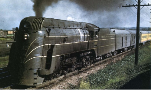Rara immagine a colori di una E-4 - foto da www.brasstrains.com/