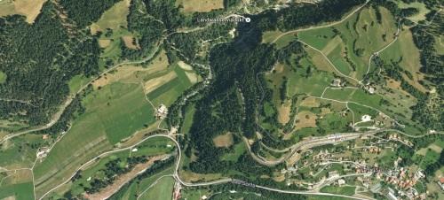 Il Landwasser dal satellite (ggogle maps)