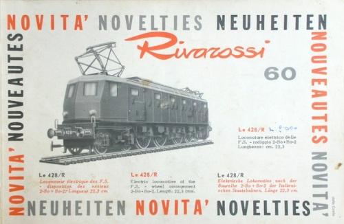 Il Catalogo Novità Rivarossi del 1960, da www.rivarossi-memory.it