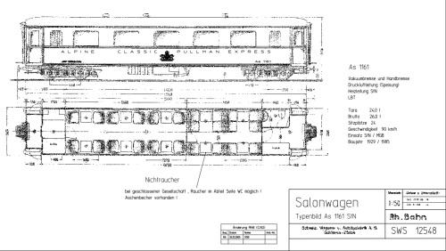 schema della carrozza RhB 1161