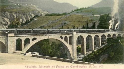 Il ponte nella sua interezza - da una vecchia cartolina