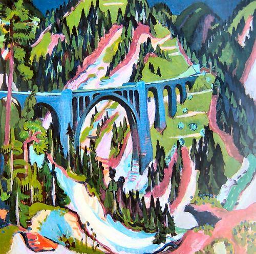 Ernst Ludwig Kirchner: Brücke bei Wiesen, da Wikipedia