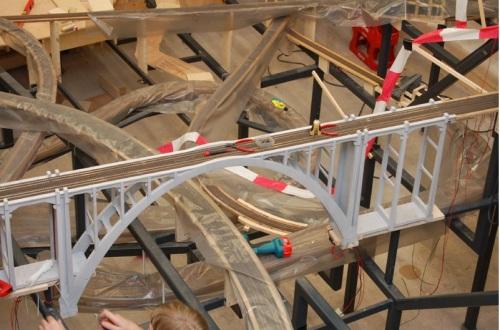 Langwieser in costruzione al Miniatur Wunderland - da www.miniatur-wunderland.com