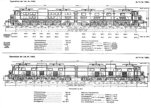 Schema delle Ae8-14 11801 e 11851.Da www.swissrailcollector.net
