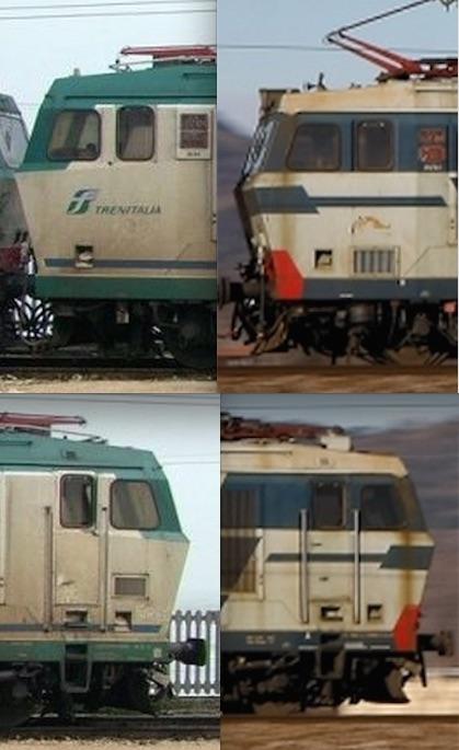 Confronto tra i musetti di una E.652 (sinistra) e un E.633 (destra), lato AT
