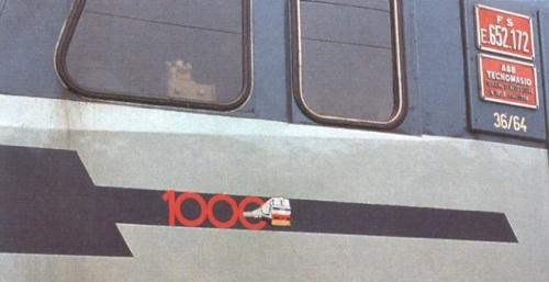Il logo speciale della E.652.172, da www.trenomania.it