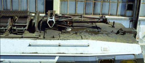 Imperiale dell'E.633, con pantografo monobraccio. Foto di Mario