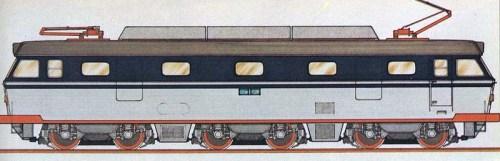 Uno dei primi bozzetti della futura E.633