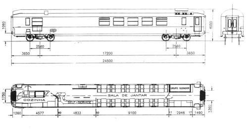 Schema delle Grill Express portoghesi - non dovrebbe differire sostanzialmente dall'originale francese. Tratto da www.transportes-xxi.net