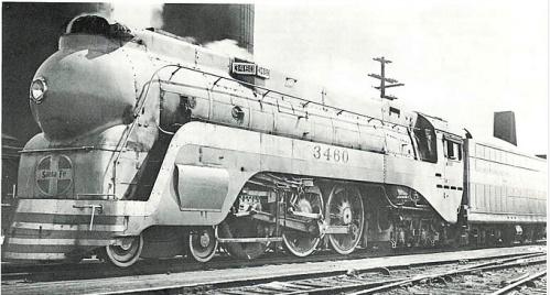 La ATSF 3460 il 10 aprile 1938, ancora con la