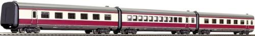 Fleischmann 741004, set aggiuntivo con due carrozze a compartimenti ed una a salone