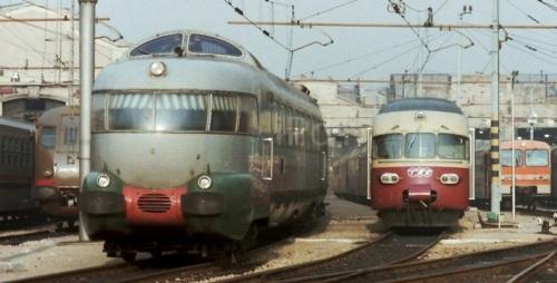 RAe 105x in nobile compagnia a Milano-Foto © DonatoRossi da ilportaledeitreni