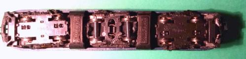 La 633 di Irmodel vista da sotto