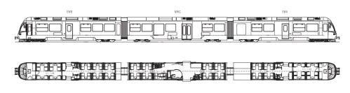 Schema del l'ABe 8/12, disegno del costruttore (Stadler)