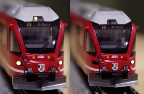 Le luci dell'Allegra Kato. A sinistra quelle frontali, a destra quella posteriore. Immagini tratte da un filmato youtube menzionato nel seguito.