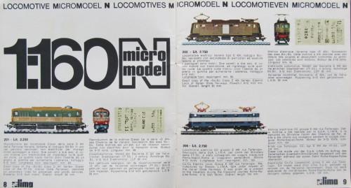 1971: Il prezzo delle motrici variava dalle 2250 Lire della D.341 alle 2750 delle E.424 ed E.444.