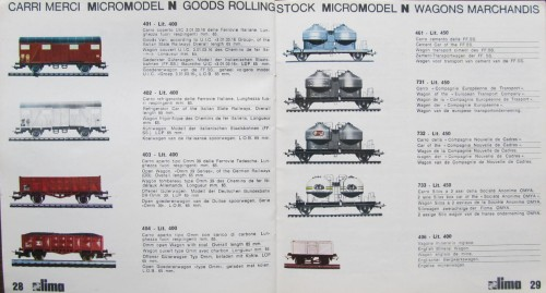 1971: I prezzi dei carri merci variano da un minimo di 400 ad un massimo di 800 Lire.