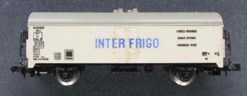 LA precedente livrea del carro Lim a464 - poi  320464 Interfrigo. Il carro era denunciato come