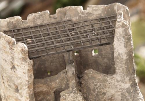Dettaglio delle travature a copertura del castello