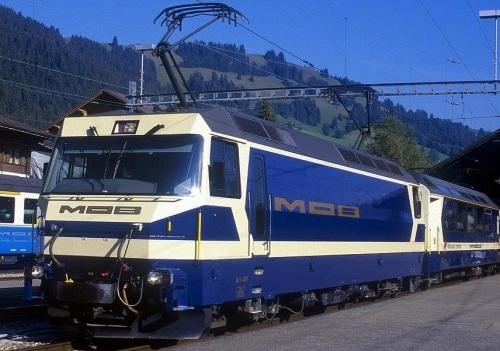 Ge4/4 MOB nel 1996 - FOto © Christian Vanheck da RailPictues.net