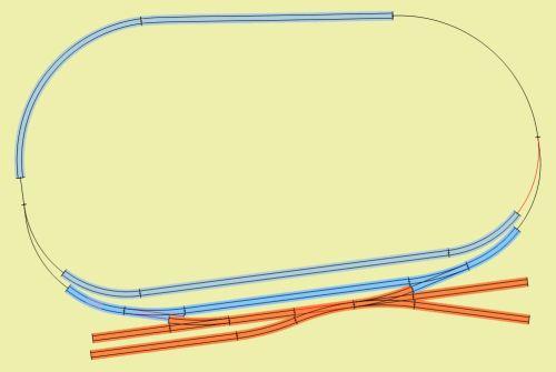 Layout del plastico di Schlossbach, dal sito di Stefano Dalli