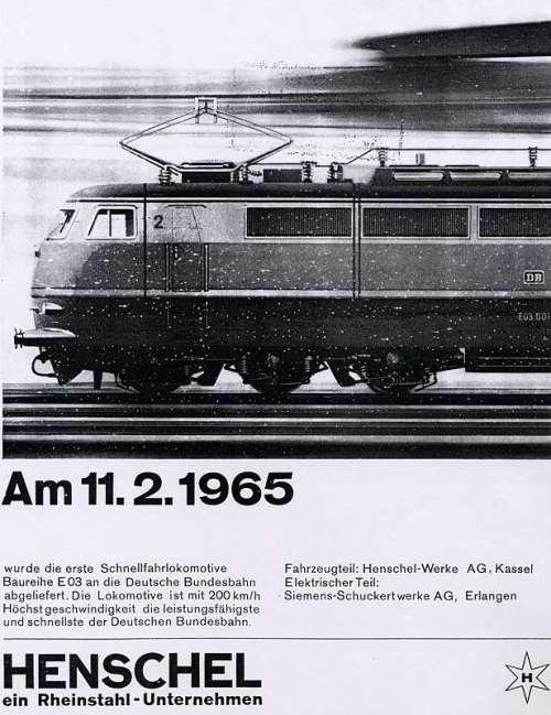 Pubblicità Henschel del 1965