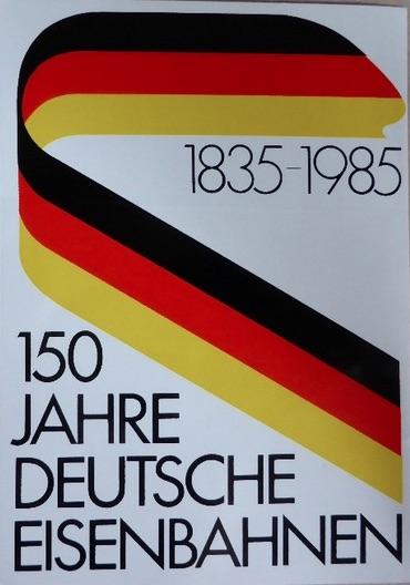 L'adesivo dei 150 anni delle ferrovie tedesche