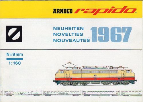 Copertina del Catalogo Novità Arnold Rapido del 1967