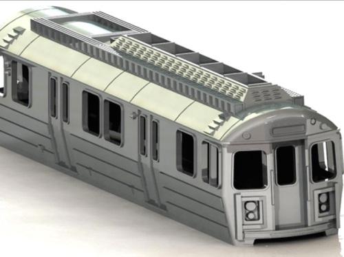 Modello in scala N della metropolitana di Boston (solo chassis), da Island Modelworks