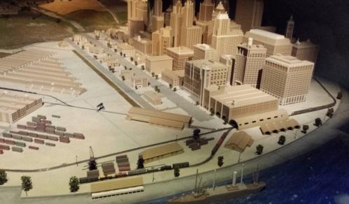 Diorama di Chicago al Padiglione Zero dell'Expo