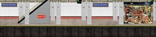 Fondale per stazione Metro
