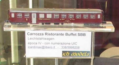 La carrozza Buffet SBB CHModels - Foto © Christian Cicognani