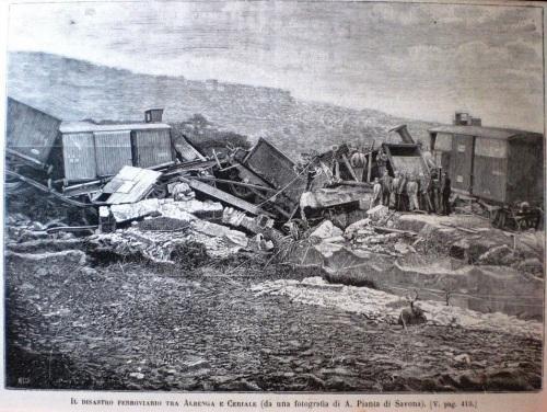 Il disastro ferroviario tra Albenga e Ceriale, 1886, Foto A.Pianta