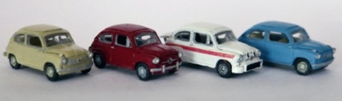 Le varie versioni di Fiat 600