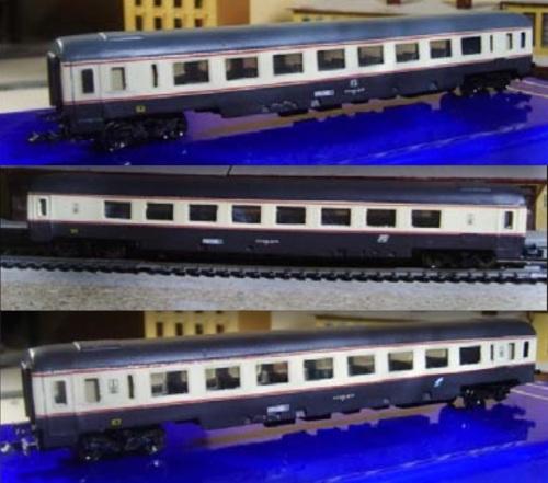 Le GC salone di EurorailModels. Dall'alto: logo a televisore, logo inclinato, logo Trenitalia