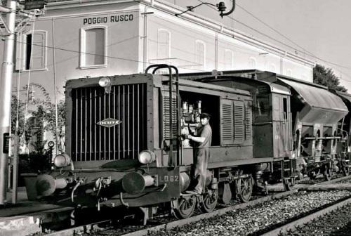 La LD 62 a Poggio Rusco nel 1963. Foto © C. Gasparini,da www.flaviotiengo.it