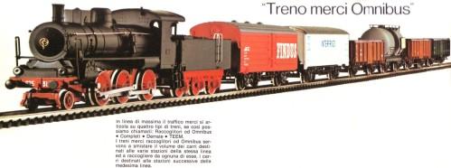 Treno merci Omnibus, a catalogo Rivarossi H0 1977/78.
