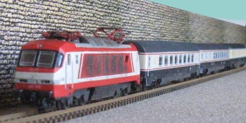 Un treno Bandiera realizzato da Christian Corradi