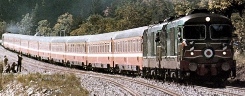 Il convoglio Breil-Cuneo nel 1979. Foto © Piero Chionna da marklinfan.com