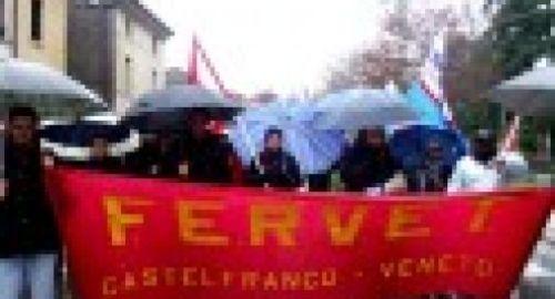 Manifestazioen dei lavoratori FERVET