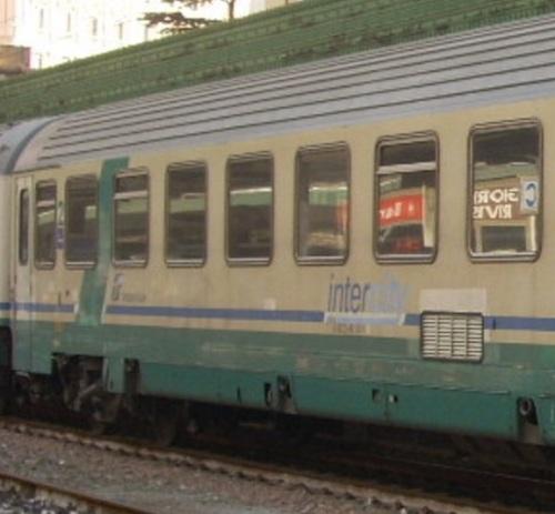Posizione delle griglia sulla Eurofima di seconda classe: tra il 6o e il 7o finestrino