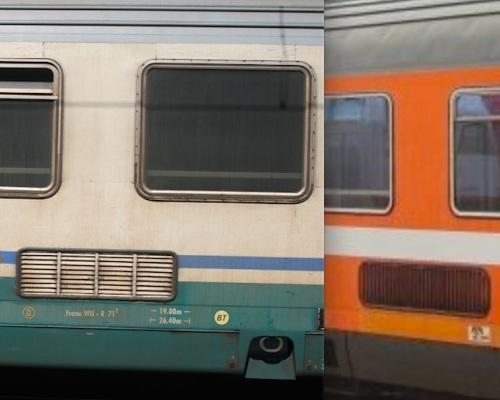 Griglie di aerazione: a sinistra sulla Z1, a destra sulla Eurofima