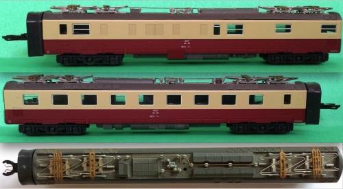 Carrozza motrice del RAe Hobbytrain, vista dai due lati e dall'imperiale