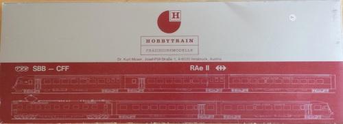 Scatola del RAe Hobbytrain, sotto.