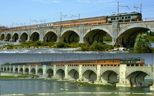 Due transiti del Romulus a Ponte di Piave - Foto © Renato Foltran da warumdennnicht.de